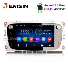 "Erisin ES3909FS 7"" Android 8.1 Carro DAB Estéreo + GPS DVR DTV 4G RDS para Ford Mondeo Focus S / C-Max Galaxy"