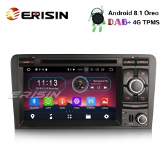 "Erisin ES3973A 7 ""Android 8.1 Estéreo Do Carro DAB + GPS TPMS DTV-IN BT CD Satnav para AUDI A3 S3 RS3 RNSE-PU"