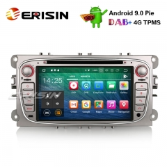 "Erisin ES4809FS 7"" Android 9.0 Carro Estéreo DAB + DVR GPS DTV 4G CD BT para Ford Mondeo Focus S / C-Max Galaxy"