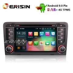 "Erisin ES4847A 7"" Android 9.0 Rádio Do Carro GPS DVB DAB + DTV Bluetooth Wifi 4G para AUDI A3 S3 RS3 RNSE-PU"