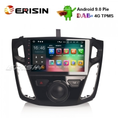 "Erisin ES4895F 9"" Ford Focus Android 9.0 Rádio Do Carro GPS DAB + DVR WiFi OBD2 DTV Estéreo Bluetooth 4G"