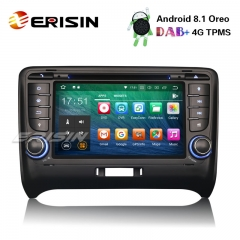 "Erisin ES3879T 7"" Android 8.1 Car Stereo DAB+ GPS DVR DTV-IN WiFi 4G OBD2 BT TPMS For AUDI TT MK2"