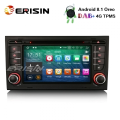 "Erisin ES3878A 7"" Android 8.1 Car Stereo DAB+ GPS Wifi DVR CD 4G BT AUDI A4 S4 RS4 B7 B9 SEAT EXEO"