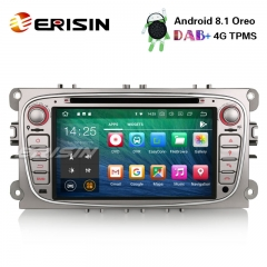 "Erisin ES3809FS 7"" DAB+ Android 8.1 Autoradio GPS Wifi Bluetooth SD Ford Mondeo Focus S/C-Max Galaxy"