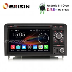 "Erisin ES3627A 7"" Android 8.1 Car Stereo DAB+ GPS TPMS DTV-IN BT CD Satnav AUDI A3 S3 RS3 RNSE-PU"