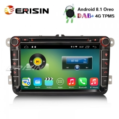 "Erisin ES3315V 8"" DAB+ Android 8.1 Car Stereo GPS For VW Golf 5 Passat Tiguan Polo Jetta Eos OPS"