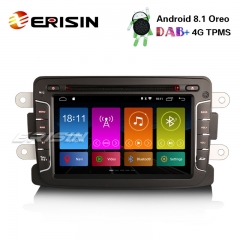 "Erisin ES2829D 7"" Android 8.1 DAB+ Car DVD GPS TPMS DTV Autoradio Renault Dacia Duster Dokker Lodgy Sandero"