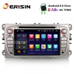 "Erisin ES7809F 7"" 8-Core Android 8.0 Car Stereo DAB+ GPS Sat Nav DVD Bluetooth for Ford Mondeo Focus S/C-Max Galaxy"