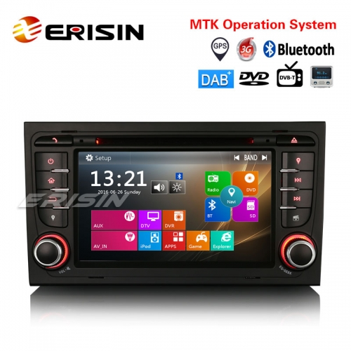 "Erisin ES7378A 7"" Car Stereo GPS DAB+ DVR DVD BT DTV SWC Canbus Audi A4 Seat Exeo S4 RS4 RNS-E"