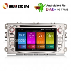 "Erisin ES2909FS 7"" Android 9.0 Autoradio GPS DAB + TPMS DVD SWC DVD Wifi Ford Focus C / S-Max Galáxia Mondeo"