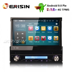 "Erisin ES7908U-64 7"" 1 DIN Destacável DAB + Android 9.0 DVD Estéreo Do Carro GPS Wi-fi TPMS DVR DTV BT OBD2 4G"