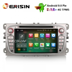 "Erisin ES7909FS 7"" Android 9.0 Autoradio GPS DAB + DVD CD Canbus SD para Ford Focus C / S-Max Galáxia Mondeo"