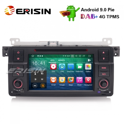 "Erisin ES7962B-64 7"" Android 9.0 Carro GPS Estéreo DAB + CD Bluetooth DVR DTV SD BMW E46 M3 Rover75 MG ZT"