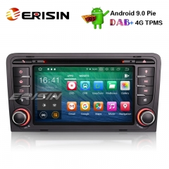 "Erisin ES7947A-64 7"" 8-Core Android 9.0 Carro GPS Estéreo OBD DVR DAB + DTV BT AUDI A3 S3 RS3 RNSE-PU"