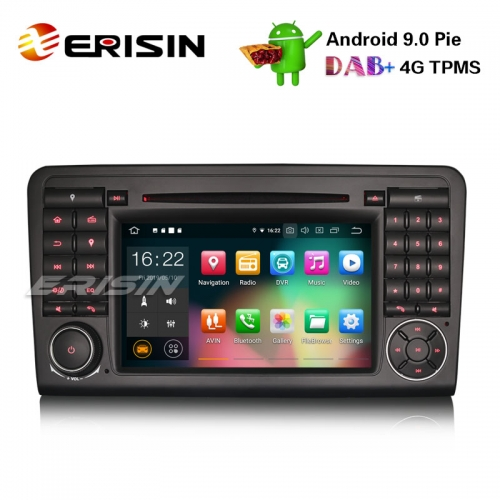 "Erisin ES7983L-64 7"" 8-Core Android 9.0 GPS DAB + CD estéreo de carro DVR BT Mercedes ML / GL Klasse W164 X164"