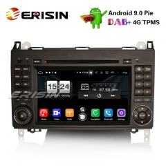 "Erisin ES7702B 7"" DAB + 4G Android 9.0 Car DVD Player GPS para Mercedes A / B Classe Sprinter Vito Viano Crafter"