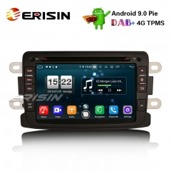 "Erisin ES7783D 7"" Android 9.0 Renault Dacia Duster Duster Logan Dokker Lodgy DAB + 4G Wifi Sistema de GPS Autoradio"
