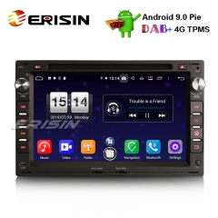 "Erisin ES7709V 7"" DAB + Android 9.0 Car Stereo GPS DVD Player para VW Golf Passat Polo T5 Multivan Jetta Peugeot"
