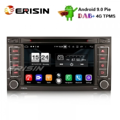"Erisin ES7706T 7"" Android 9.0 estéreo do carro DAB + DVD GPS BT Wifi DVD OBD para VW Touareg"