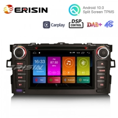 "Erisin ES3017A 7"" DSP Android 10.0 Autoradio DAB+ GPS DVD Player OBD CarPlay Wifi TOYOTA AURIS COROLLA ALTI"