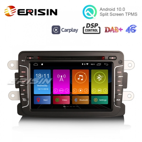 "Erisin ES3029D 7"" DAB + Android 10.0 Car Radio GPS CarPlay DSP para Renault Dacia Duster Sandero Dokker Lodgy"