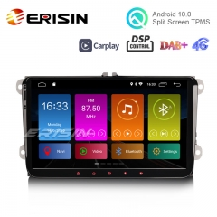 "Erisin ES3091V 9"" AB + Android 10.0 GPS estéreo DSP CarPlay para VW Passat CC Golf Touran Polo Seat"