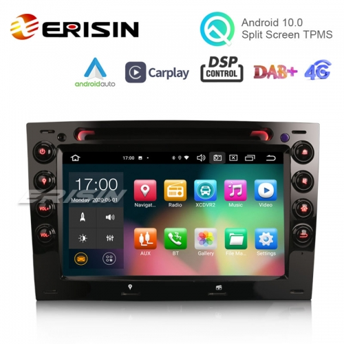 "Erisin ES8113M 7"" 64GB Android 10.0 Car DVD CarPlay & Auto GPS 4G DAB+ DSP for Renault Dacia Duster"