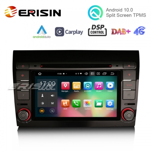 "ES8171F 7"" Android 10.0 Car DVD CarPlay & Auto GPS TPMS DAB+ DSP DVR Canbus for FIAT BRAVO 2007"