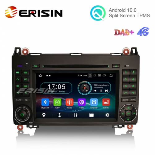"Erisin ES6972B 7"" Android 10.0 Car Multimedia DVD GPS Radio WiFi BT TPMS DVR for Benz W169 W245 Viano Vito A-Class B-Class"
