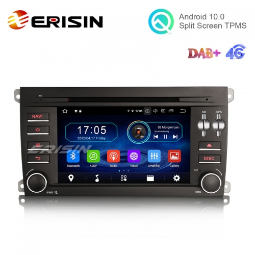 "Erisin ES6914C 7"" 64G 8 Core Android 10.0 Car Multimedia with GPS Radio WiFi DVR DVD for Porsche Cayenne"