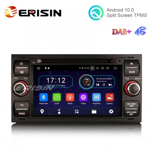 "Erisin ES6931FB 7"" Android 10.0 Car DVD Player for Ford Transit Kuga Fiesta Fusion Connect GPS Radio 4G WiFi DAB TV BT"