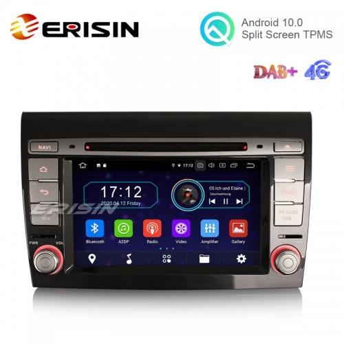 "Erisin ES6971F 7"" Android 10.0 Car Multimedia DVD GPS 4G WiFi RDS DTV Radio for Fiat Bravo"