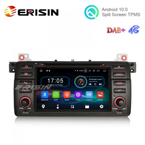 "Erisin ES6946B 7"" Octa-Core Android 10.0 Car DVD GPS Radio WiFi BT 4G for BMW BMW E46 3er 318"