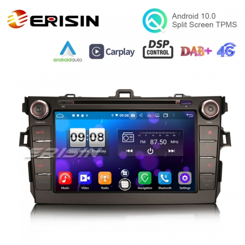 "Erisin ES8728A 8"" Android 10.0 Car Multimedia CarPlay & Auto GPS TPMS DVR DSP Radio for Toyota COROLLA ALTIS AURIS"