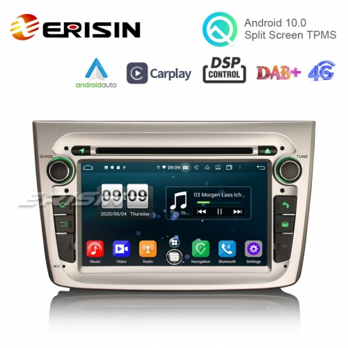 "Erisin ES8730SM 7"" 8-Core 64G Android 10.0 Car DVD Player GPS CarPlay Auto DSP 4G GPS for Alfa Romeo Mito"