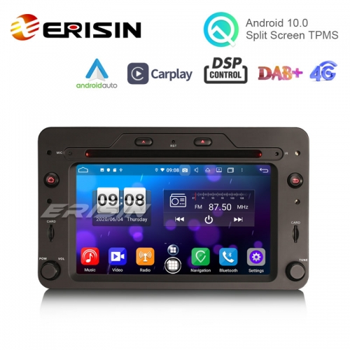 "Erisin es8720r 6.2"" octa-core android 10.0 car dvd carplay & auto gps tpms dab dsp para alfa romeo spider 159 sportwagon"