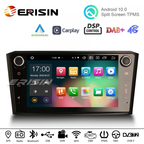 "Erisin ES8107A 8"" Android 10.0 Car Stereo DSP Apple Carplay Android Auto OBD GPS DAB Radio for TOYOTA AVENSIS T25"