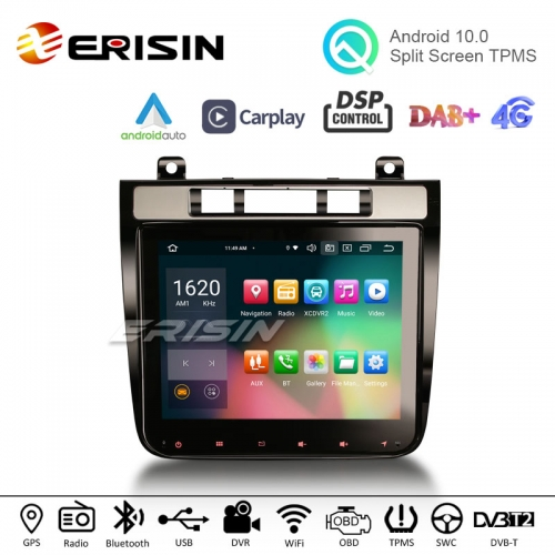 "Erisin ES8141T 8.4"" Octa-Core Android 10.0 Car Stereo CarPlay & Auto GPS TPMS DVR DTV DAB Radio for VW TOUAREG"